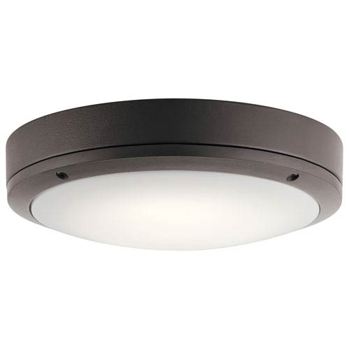 Textured Architectural Bronze 11-Inch Energy Star LED Flush Mount
