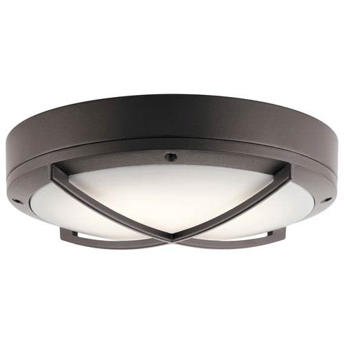 Textured Architectural Bronze 11-Inch Energy Star LED Flush Mount with Frame