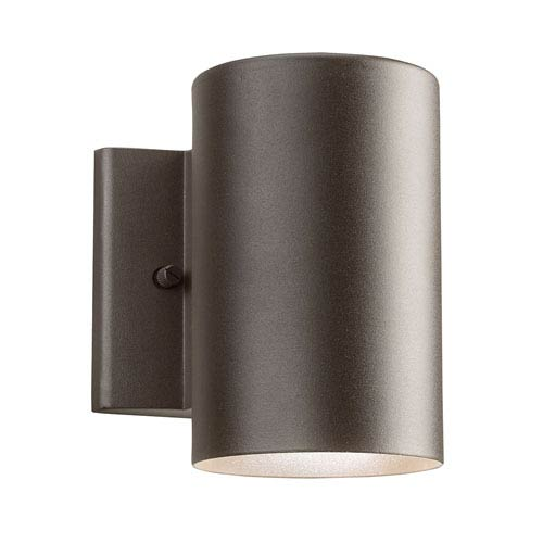 Textured Architectural Bronze One-Light LED Outdoor Wall Mount