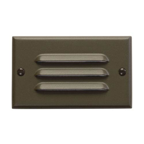 Step and Hall Light Architectural Bronze Horizontal Louver LED Step Light