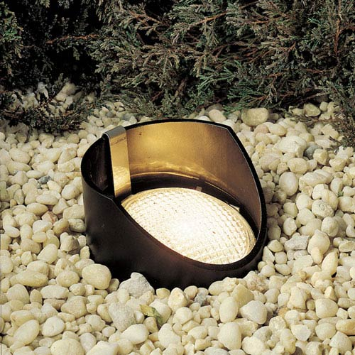 Black 5.5-Inch One-Light Landscape In-Ground Accent Fixture