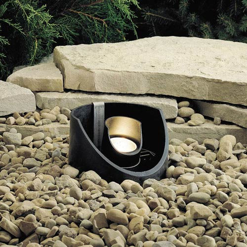 Textured Black 5.5-Inch One-Light Landscape Accent Fixture