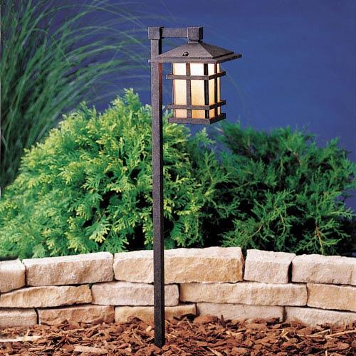 Aged Bronze Line Voltage One-Light Landscape Path Light
