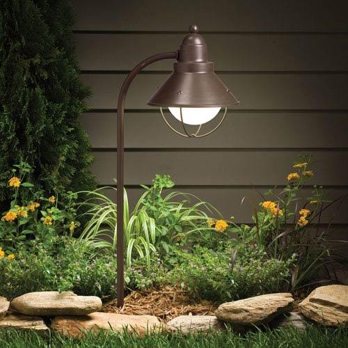 Olde Bronze Line Voltage One-Light Landscape Path Light