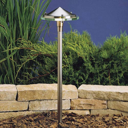 Brushed Nickel 22-Inch One-Light Landscape Path Light