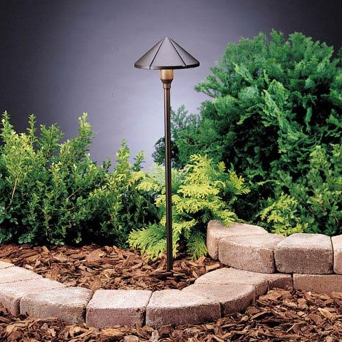 Kichler Six Groove Textured Architectural Bronze 23-Inch One-Light Landscape Path Light