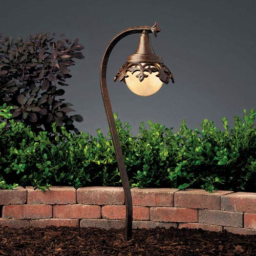 Vintage Park Textured Tannery Bronze 26.5-Inch One-Light Landscape Path Light