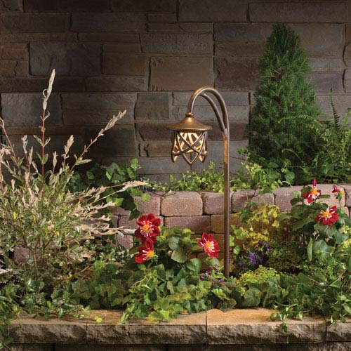 Landscape lighting outdoor lighting from bellacor leaders in cathedral textured tannery bronze 27 inch one light landscape path light aloadofball Choice Image