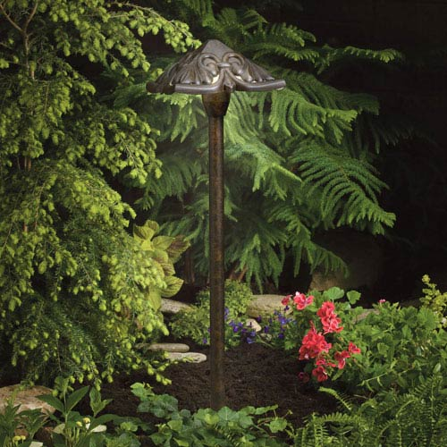 Textured Tannery Bronze 21.5-Inch One-Light Landscape Path Light