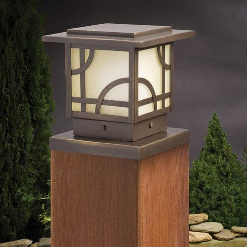 Larkin Estates Olde Bronze 6.5-Inch One-Light Landscape Deck Post Light