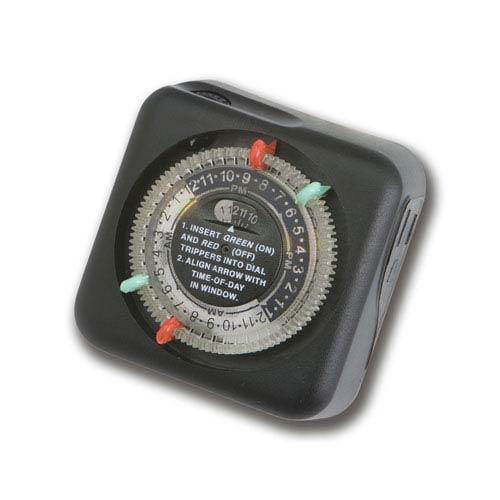 Black Landscape Outdoor Enclosure Mechanical Transformer Timer, 120 Volt
