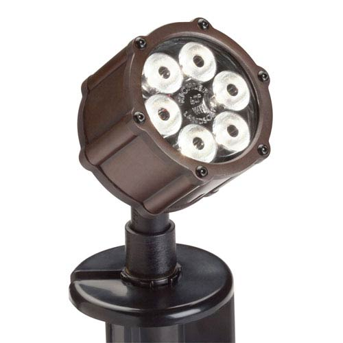 Bronzed Brass 3000 Kelvin LED Wide Flood Landscape Light