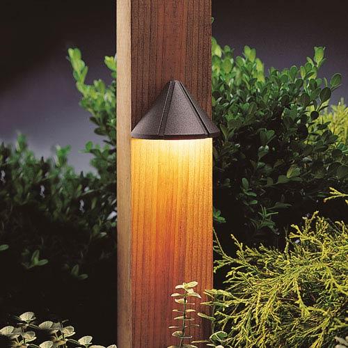 Kichler 15765AZT27R Textured Architectural Bronze 2700K LED Deck Light