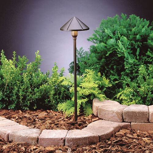 15826AZT27R Textured Architectural Bronze 2700K Center Mount LED Path Light