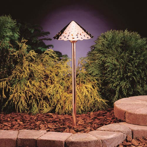 Copper 2700 Kelvin Three-Light LED Landscape Path Light