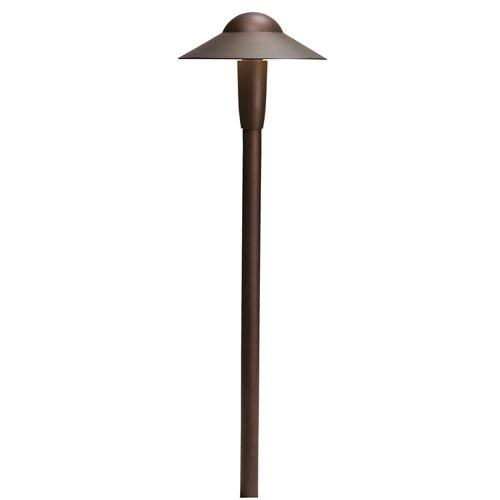 Kichler 15870AZT27R Textured Architectural Bronze 2700K LED Dome Path Light