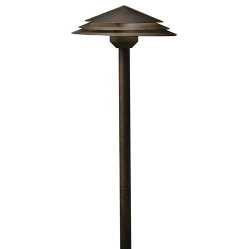 16124AGZ27 Aged Bronze Round Tiered 2700K LED Path Light