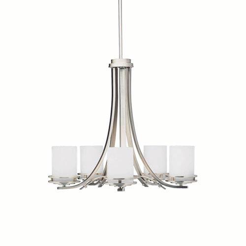 Hendrik Brushed Nickel Five-Light Chandelier