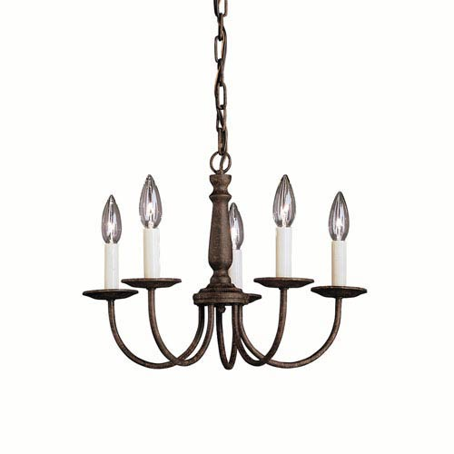 Salem Tannery Bronze Five-Light Chandelier