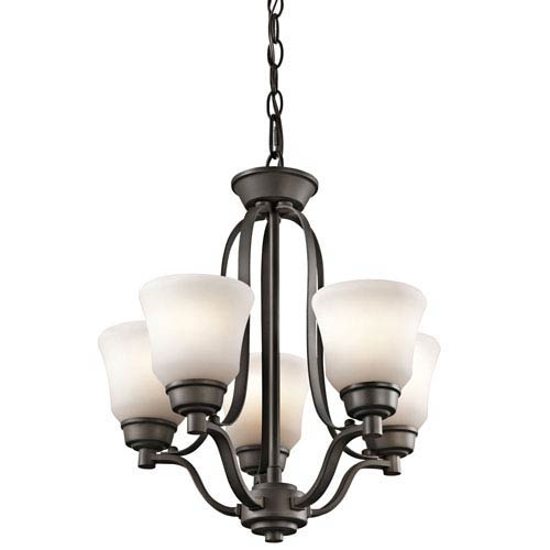 Kichler Langford Olde Bronze Five Light Mini Chandelier
