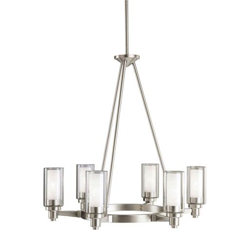 Kichler Circolo Brushed Nickel Six-Light Chandelier