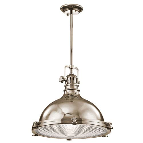 Hatteras Bay Polished Nickel One Light Pendant
