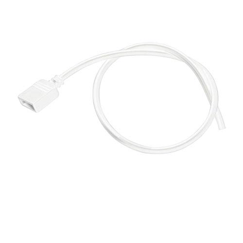Kichler 2SLW2WH White 2-Foot Damp Supply Lead (No DC Connector)
