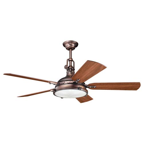 Hatteras Bay Oil Brushed Bronze Four-Light 56-Inch Ceiling Fan