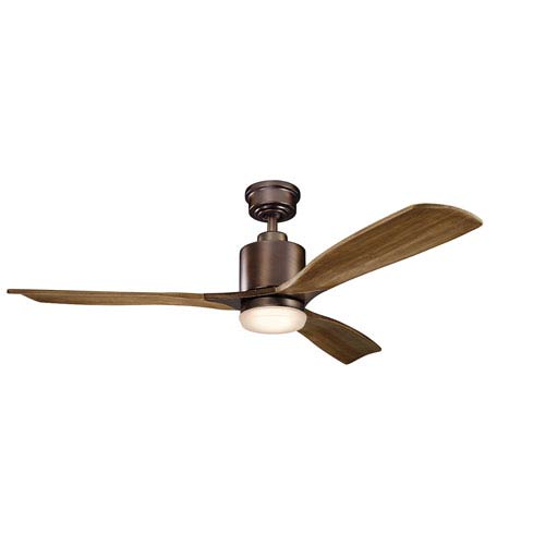 Ridley II Oil Brushed Bronze 52-Inch LED Ceiling Fan