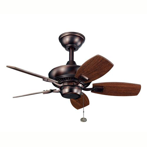 Canfield 30-Inch Oil Brushed Bronze Ceiling Fan