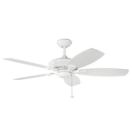 Canfield 52-Inch White Ceiling Fan