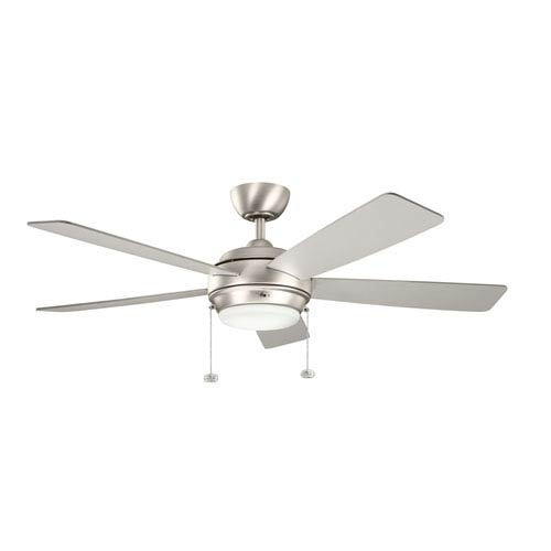 Kichler Starkk Brushed Nickel One Light Ceiling Fan