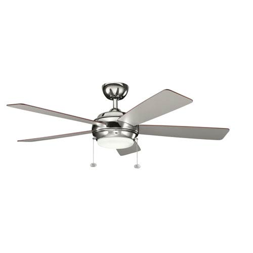 Kichler Starkk Polished Nickel One Light Ceiling Fan