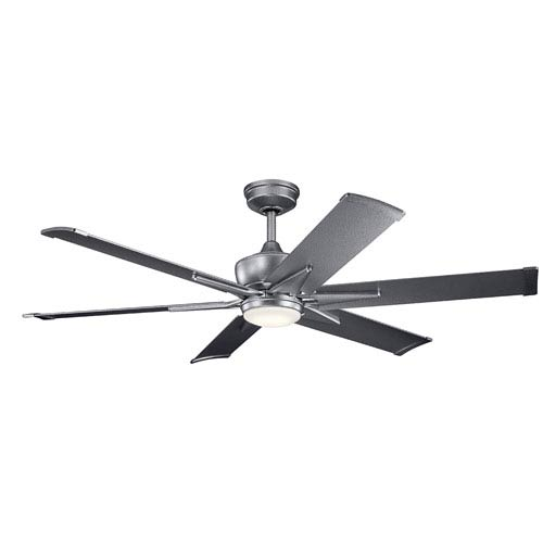 Kichler Szeplo Patio Weathered Steel Powder Coat 60-Inch Wet Location LED Ceiling Fan