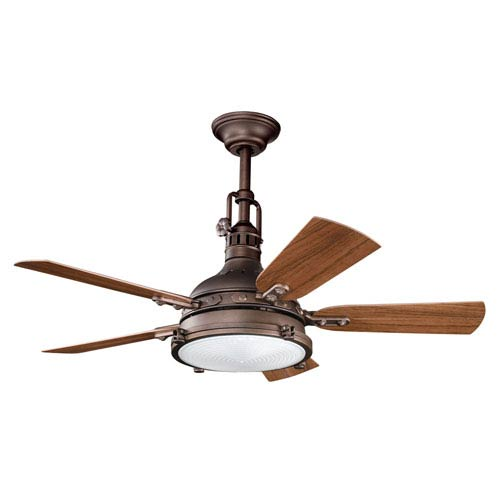Kichler Hatteras Bay Patio Weathered Copper Four-Light 44-Inch Ceiling Fan