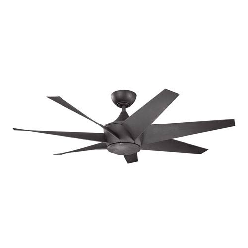 Lehr II Distressed Black Indoor and Outdoor Ceiling Fan