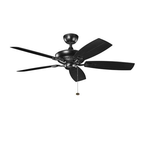 Canfield Satin Black 52 Inch Patio Ceiling Fan