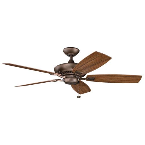 Canfield Energy Star Patio Weathered Copper 52-Inch Fan