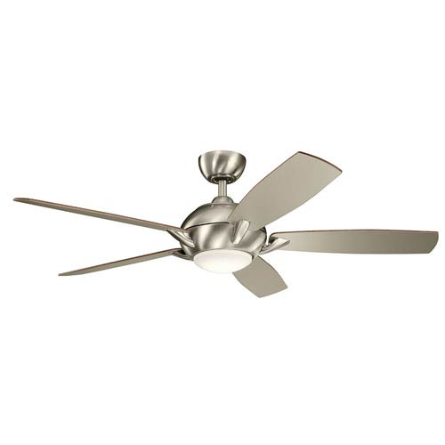 Geno Brushed Stainless Steel 54-Inch LED Ceiling Fan