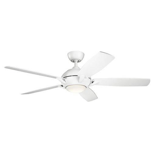 Geno Matte White 54-Inch LED Ceiling Fan