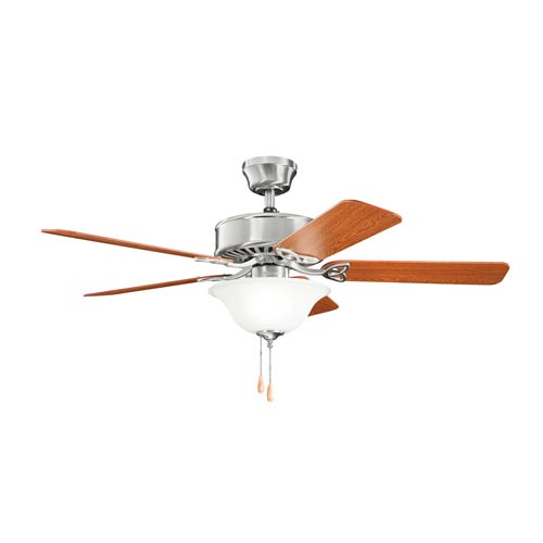 Kichler Renew Select Brushed Stainless Steel Three Light Ceiling Fan