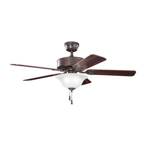 Kichler Renew Select Tannery Bronze Three Light Ceiling Fan