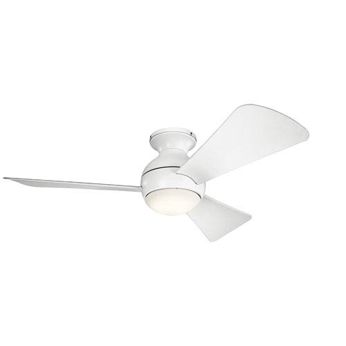 Sola Matte White 44-Inch Wet Location LED Ceiling Fan