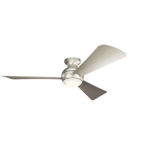 Sola Brushed Nickel 54-Inch Wet Location LED Ceiling Fan