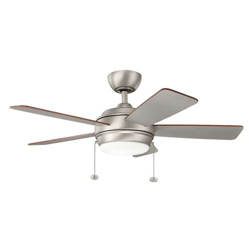 Starkk Brushed Nickel 42-Inch LED Ceiling Fan with Light Kit