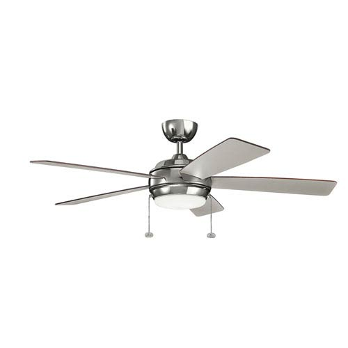 Starkk Polished Nickel 52-Inch LED Ceiling Fan with Light Kit