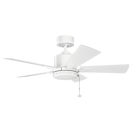 Bowen Matte White 42-Inch Ceiling Fan
