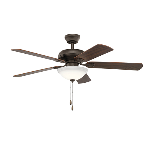 Satin Natural Bronze 52-Inch One-Light Ceiling Fan