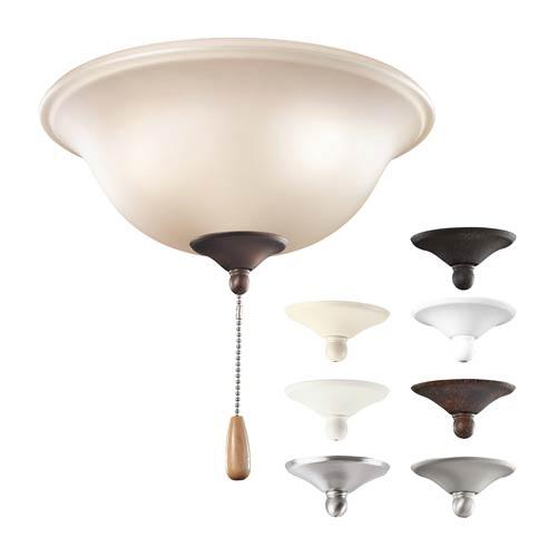 Multi-Color Three Light Bowl Fan Kit