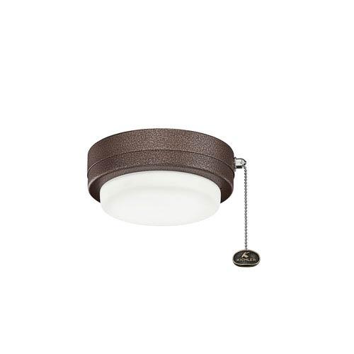 Weathered Copper Powder Coat LED Fan Light Kit